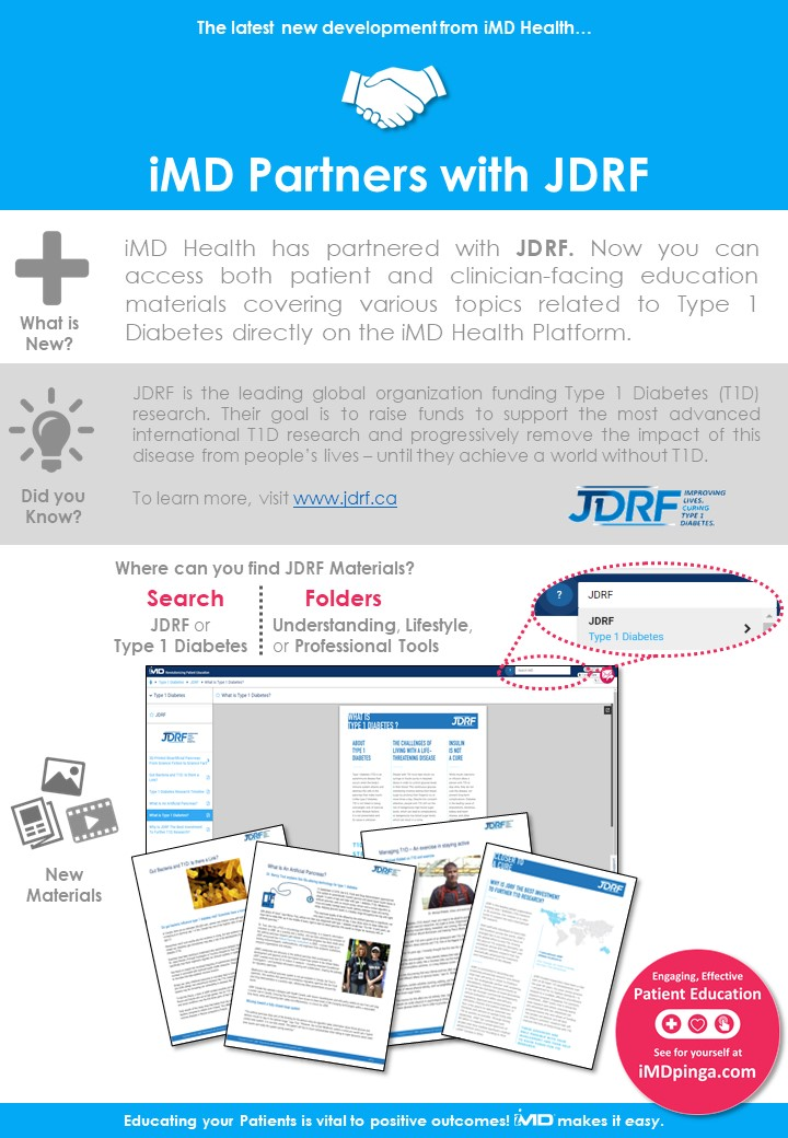 iMD Partners with JDRF