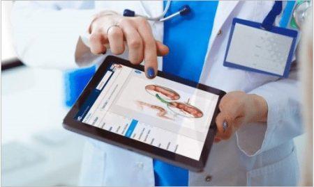 iMD Health Patient Engagement Platform on a tablet